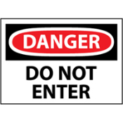 OSHA signs alert to the presence of a hazard. Reinforced baked enamel .040 aluminum. Corrosion-free and UV-resistant permanently withstand harsh elements. Radius corners and predrilled corner mounting holes for fast and easy installation.
