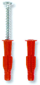 The ITW Red Head Poly-Set plug anchor is a polyethylene expansion anchor designed for fastening into drywall, hollow block, brick and solid concrete.
