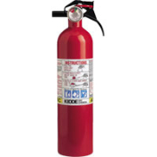 Kidde 2.5 lb ABC Disposable Fire Extinguisher for multi-purpose and supplemental use. Supplied with nylon strap bracket. Monoammonium Phosphate. Ground ship or local delivery only.