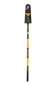 "Drain Spade - 5.5"" x 16"" blade, front turn step, 48"" yellow fiberglass handle, PermaGripâ""¢ collar, cushion grip. BEST Quality!"