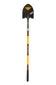 "Structron Shovels are the most rugged available for the toughest construction, industrial, and commercial applications. Thick steel #2 head, 48"" solid core fiberglass handle with comfort grip."