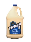 Titebond II Premium provides a strong initial tack, fast speed of set, superior strength and excellent sandability. It is FDA approved for indirect food contact (cutting boards) and is ideal for radio frequency (R-F) gluing systems.