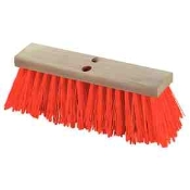 "16"" Street Broom with durable, tough, long-wearing crimped bristles are perfect for street crews, construction, and other demanding work sites. With Handle."