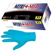 Latex-free, protects against a variety of chemicals and resists punctures and abrasions. NitriMed Nitrile Gloves have a textured finish for better gripping. 10 boxes of 100 per box. 6 mil available.