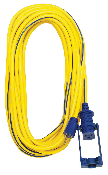 50' 14/3 3-Conductor 300V Outdoor Extension Cord SJTW with Ezeelock and lighted end. UL/CSA Approved