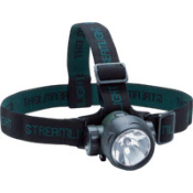 StreamLight's Trident Headlamp with Xenon and LED bulbs provides the long run times and durability of LEDs and the brightness of an incandescent. Spot to flood focus. Batteries included. Other StreamLight products available!