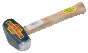 "3 LB or 4 LB Drilling Hammer with a 10.5"" Wood Handle - Hickory"