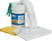The Oil Only 6.5 Gallon Spill Bucket is an easy access spill kit in a convenient reusable bucket. Best suited for a small spill response of an oil based material.