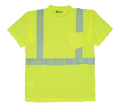 Class II High Visibility Wicking T-Shirt. Made of 100% breathable polyester that wicks away moisture and provides maximum comfort for the wearer. Orange or Lime. Sizes S-5XL