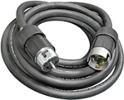 SOW Type rubber jacketed temporary power cords with 6/3-8/1 gauge wire. Weather Resistant Boots are available upon request.