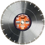 "Diamond Blade - Dry or Wet Cut 14"" X .125"" X 1""-20mm Heavy Duty General Purpose with .295 Diamond Depth in Segments. High Diamond Concentration for long life."