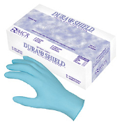 100% Nitrile Disposable work gloves protect against a variety of chemicals and resist punctures and abrasions. Rolled cuff, powder free, textured finish for better gripping. Sold by the case.
