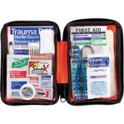 For hiking, camping, marine adventures, home and auto. This soft side kit features the essential first aid items for minor aches and injuries. Supplies are easy to find in clear-pocket pages.