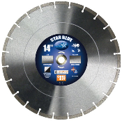"Star Blue Diamond Blade - Dry or Wet Cut 14"" X .125"" X 1""-20mm with .374"" Diamond Depth in Segments. Suitable for General Purpose concrete cutting with minimal rebar."