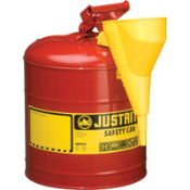 Type I Red Steel Safety Can w/Funnel - 5 gallon Justrite