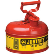 Justrite Type I safety cans reduce fire risks and make everyday use of flammables easier and safer. Meets OSHA and NFPA requirements for Type I safety cans.