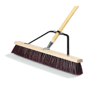 "24"" broom with 3-1/4"" stiff polypropylene bristles is great for use on driveways, sidewalks, and streets. With Handle and Brace."