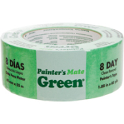 Painter's Mate Green® Masking Tape is kind to the environment with it's water/rubber based adhesive. It leaves clean straight lines with less bleed and no adhesive transfer.