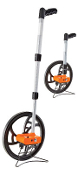 Keson Road Runner Measuring Wheels have a magnified easy-read counter, telescoping handle with locking sections and a KESONITE™ metal/resin composite wheel.