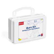 12-piece burn kit includes the basic necessities for burn care. Products are contained in a sturdy, reusable plastic case with gasket