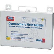 179 Piece 25-Person Contractor First Aid Kit w/Metal Case