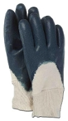 2-piece jersey lined nitrile coated glove. Partially coated back for breathability while keeping the back of your fingers dry. Rough palm for excellent grip in wet and dry environments. Knit wrist for secure fit. LARGE