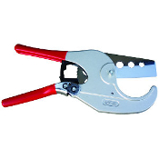 This PVC cutter features a replaceable drop forged carbon steel blade and a ratchet mechanism that makes PVC cutting quick and easy! Ideal for plumbing, irrigation, and PVC conduit used in commercial fiber optic cable installation.