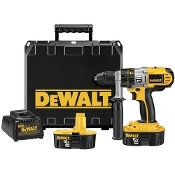 The DeWalt DCD950KX Hammer Drill/Drill/Driver Kit includes 2 18V XRP™ batteries, a one hour charger, 360 degree handle, and case.