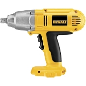 The DeWalt® DC059 Cordless Impact Wrench is a high performance industrial tool with a detent pin anvil, 300 ft. lbs. of torque and speeds of up to 2600 RPM.