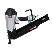 The PorterCable FR350B is a lightweight, 3-1/2 inch full round head framing nailer with easy to use features such as tool-free adjustable depth and drive and a selectable trigger.