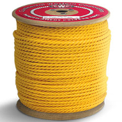 This rope has excellent resistance to most common chemicals and is resistant to rot, mildew and deterioration. It has good abrasion, UV resistance, strength, and moderate stretch.