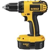 The DeWalt DC720KA Compact Drill/Driver Kit includes two 18V XRP™ batteries, a one hour charger, 360 degree handle, and heavy duty kit box.