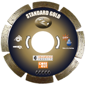 "Standard Gold Small Diameter Dry Cut Diamond Blades are 4"" X .070"" X 7/8"" - 20mm and suitable for use on a circular saw or angle grinder for General Purpose concrete cutting with minimal rebar. Better diamond quality and a better cutting value!"