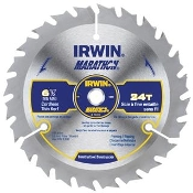 "Marathon® Cordless Circular Saw Blades are specifically designed for use with cordless saws. Face ground teeth for fast clean cuts. 6-1/2"" diameter, 5/8"" arbor, 24 teeth"