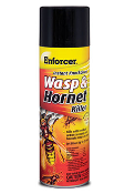 Enforcer's instant knockdown formula kills the entire nest of wasps, hornets, yellow jackets on contact.