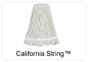 8-Ply tightly twisted, long staple, clean 100% cotton yarn with cut ends. High tensile strength provides excellent wearability. Thin yarn strands prevent streaking. For general use: picking up liquids and scrubbing.
