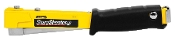 Use the SharpShooter® Heavy Duty Hammer Tacker to facilitate the installation of carpeting, roofing or insulation