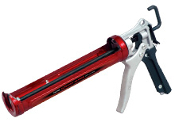 Tajima's Convoy Caulking Guns are smooth and dependable with rotating handles for maneuvering in and around tight spaces, extra-long barrels for hassle-free tube reloads, and thrust system options to handle any material with ease.