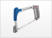 "Lightweight All Metal Hacksaw Frame for general purpose cutting. Comes with one 12"" 24 TPI blade"