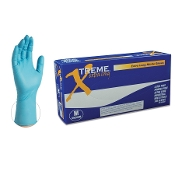 "The Xtreme Extra Long Nitrile Glove is a 5 mil exam grade disposable glove with an extended cuff. It's 2"" longer than standard length disposable gloves for better coverage in dusty or wet conditions."