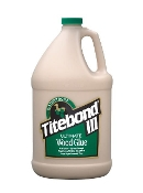 Titebond III is non-toxic, solvent free and cleans up with water. It provides strong initial tack, sands easily without softening and is FDA approved for indirect food contact (cutting boards). Ideal for both interior and exterior applications.