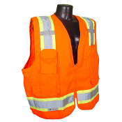 Radians SV62 Class 2 Surveyor Heavy Duty Safety Vests make workers more noticeable. Dual mic tabs and loads of pockets make this a functional and durable vest.