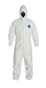 Tyvek® garments are composed of flash spun high density polyethylene which creates a unique, nonwoven material available only from DuPon