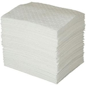 Great heavy duty absorbent pad for oil and hydrocarbons. Perforated and laminated for durability.lity.