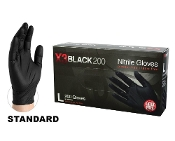 X3 Black Nitrile gloves are fully textured for a sure grip, wet or dry. They combine excellent dexterity with outstanding performance. 200 gloves per box - 10 boxes per case