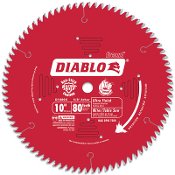 Ideal for trim carpenters, Diablo Fine Finish Blades leave a smooth surface that requires little to no sanding