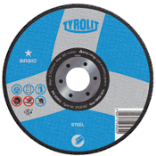 These Tyrolit Abrasives cut-off wheels by Diamond Products are manufactured for general purpose use on metal. This Type 27 cut-off wheel is for cutting and light grinding of steel.