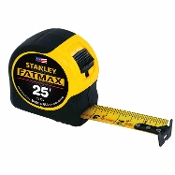 "The STANLEY® FatMax® 25 ft Tape Measure is extra tough and durable thanks to industrial-grade BladeArmor® coating on the first 3"" and a high-impact ABS case."