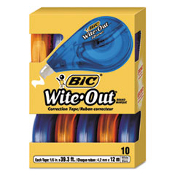 Package of 10 strong correction tapes made by Bic - America's #1 correction brand