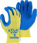 Atlas® Cut Resistant Kevlar® knit gloves with latex coated palm offer remarkable protection from cuts and heat